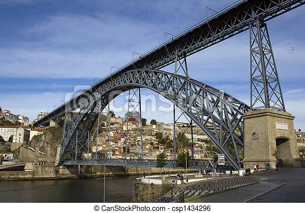 Oporto View with D. Luis Bridge - csp1434296