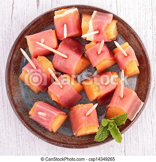 закуски с пармской ветчиной с фото