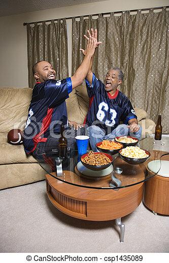 Men watching sports. - csp1435089