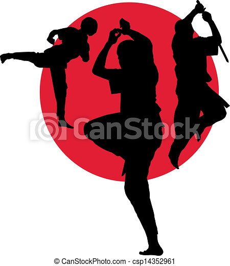 Martial arts poses - csp14352961
