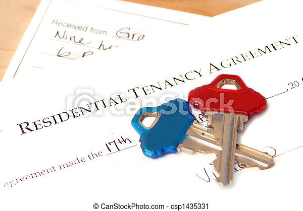residential tenancy agreement  - csp1435331