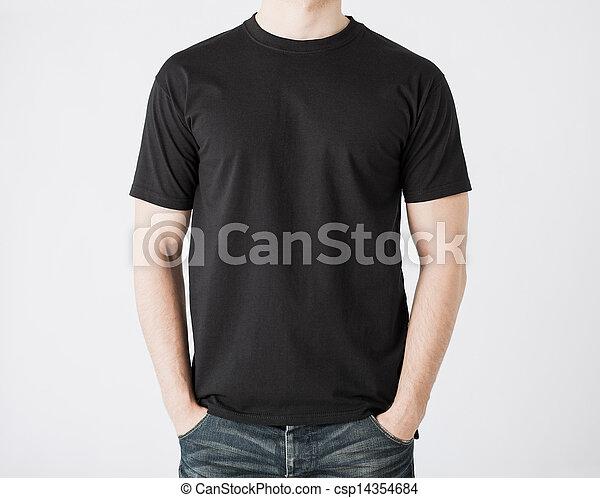 man in blank t-shirt - csp14354684