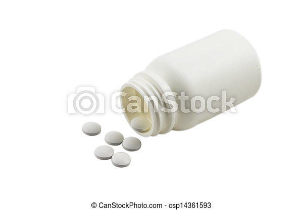 Bottle and tablets - csp14361593
