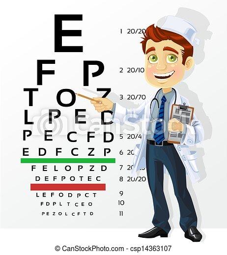 vector clip art de lindo  hombres  doctor  prueba female eye doctor clipart Eye Doctor Logo