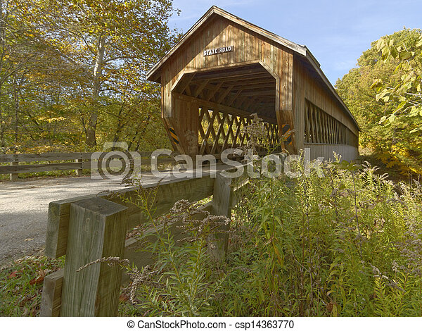 Covered bridges in Northeast Ohio Counties. Early Fall season. - csp14363770