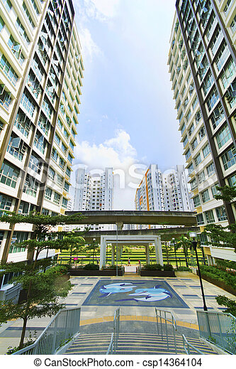Singapore Government apartments - csp14364104