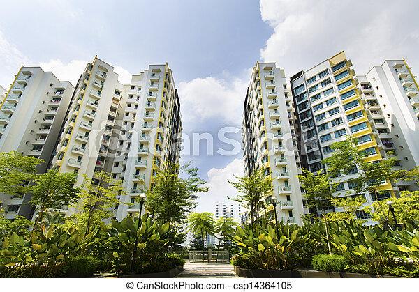 Singapore Government apartments - csp14364105