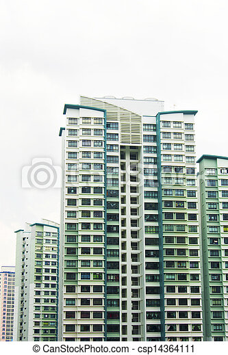Singapore Government apartments - csp14364111