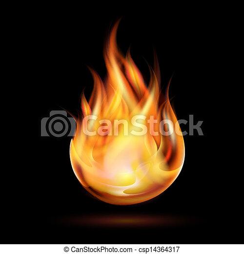 Symbol of fire - csp14364317