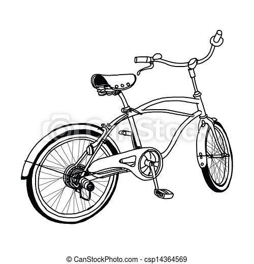 Bicycle hand-drawn - csp14364569