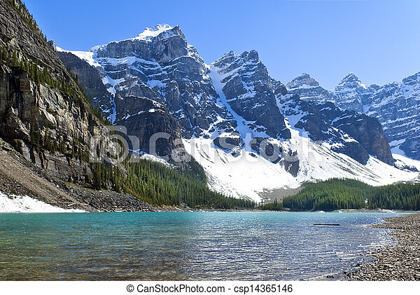 Lake Agnes, National Park, Banff Alberta, Canada - csp14365146
