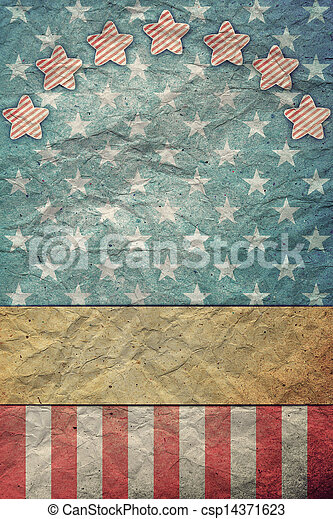 U S A  Flag for July 4th, Labor Day - csp14371623