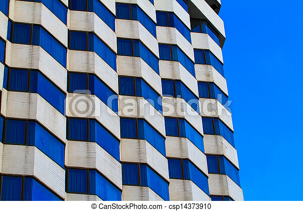 Exterior of luxury building hotel with modern architecture - csp14373910