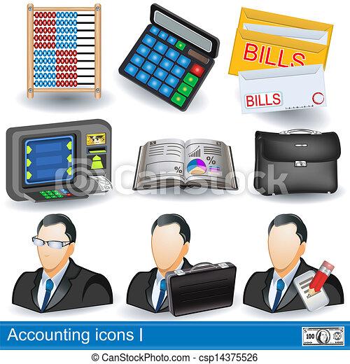 accounting icons - csp14375526