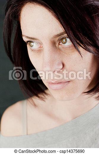 sad abused woman - csp14375690