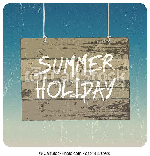 Summer holiday poster. Vector - csp14376928