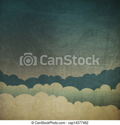 Vintage grunge sky background.  - csp14377462