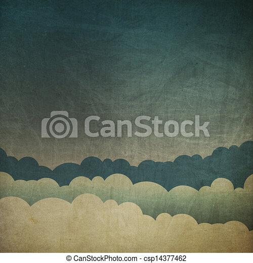Vintage grunge sky background. - csp14377462