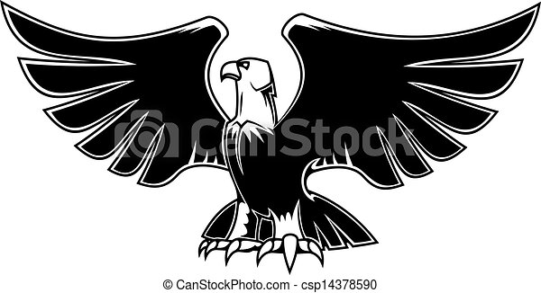 Eagle Open Wings Drawing Majestic Eagle With Open Wings