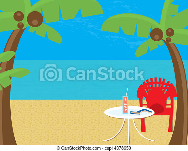 Beach Relaxation - csp14378650
