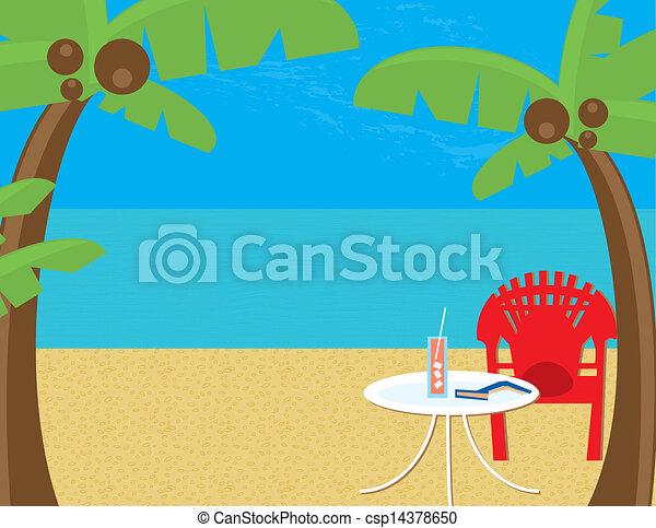 Beach Relaxation - csp14378650