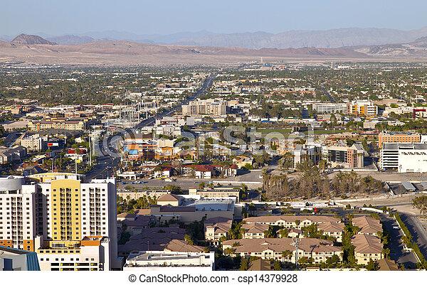 Las Vegas Nevada a residential landscape. - csp14379928