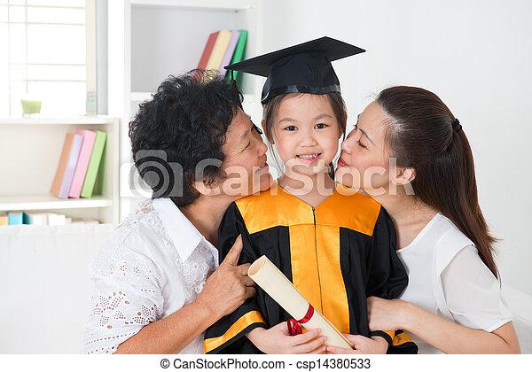 Kindergarten graduation. - csp14380533