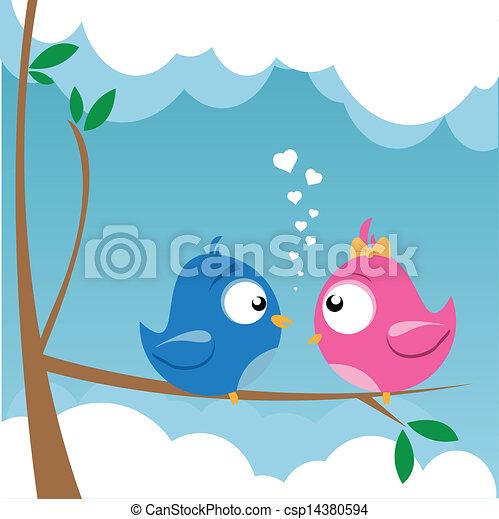 birds in love - csp14380594