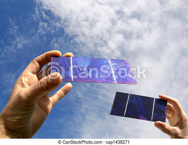 Summer  with solar - csp1438271