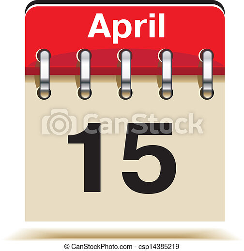 15 April Tax Day - csp14385219