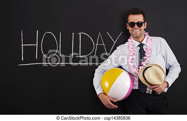End of work! Time to holiday! - csp14385836
