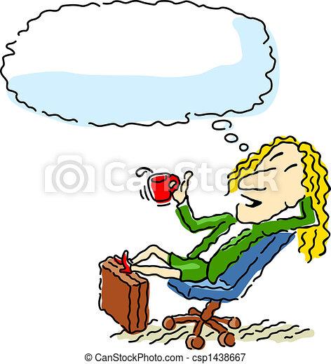 Happy businesswoman - csp1438667