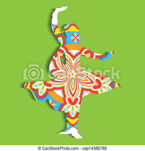 Kathak Dance Drawing Indian Classical Dancer