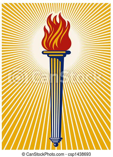 Flaming torch - csp1438693