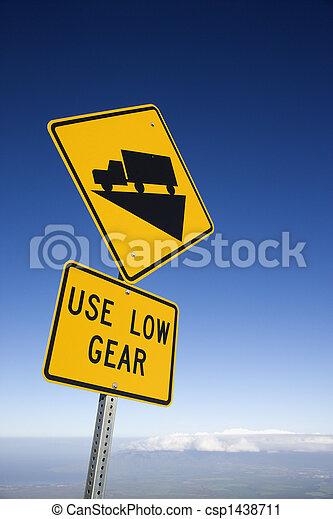 Steep grade truck sign. - csp1438711