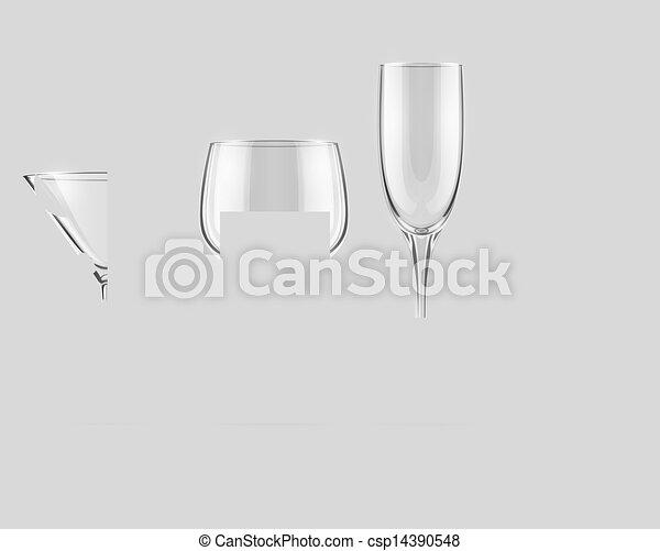 vektor satz durchsichtig glas kelchgl ser vektor. Black Bedroom Furniture Sets. Home Design Ideas