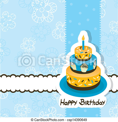 Template greeting card, vector - csp14390649