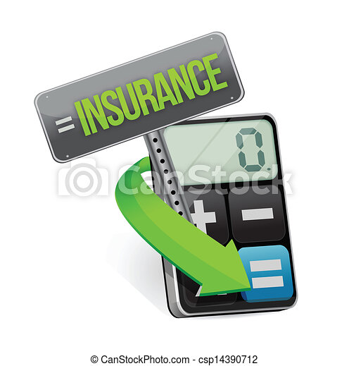 insurance or risk concept with calculator - csp14390712