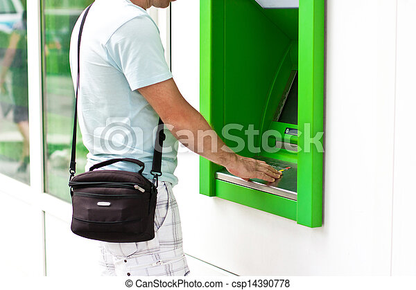 Electronic banking,  ATM - csp14390778