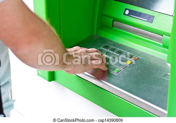 Electronic banking,  ATM - csp14390809