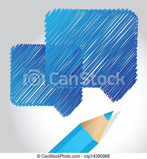 speech bubble communication concept - csp14390968