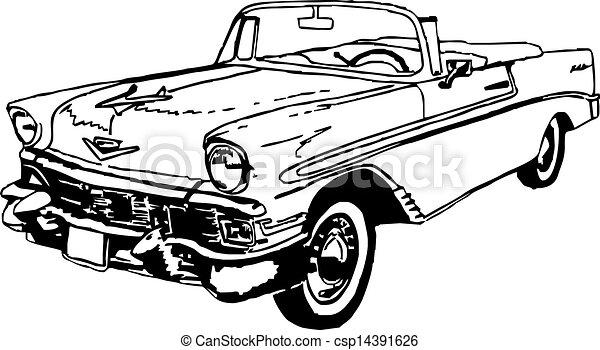 ilustraciones de vectores de chevrolet  convertible  56