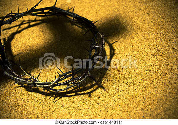 crown of thorns with shadow of cross - csp1440111