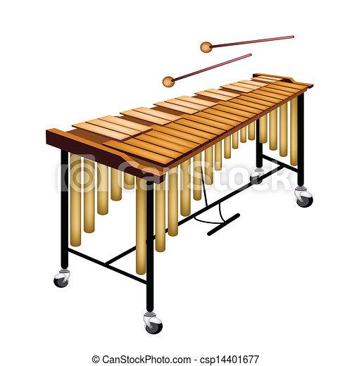Illustrations Vectorisées de blanc, fond, isolé, vibraphone, musical ...