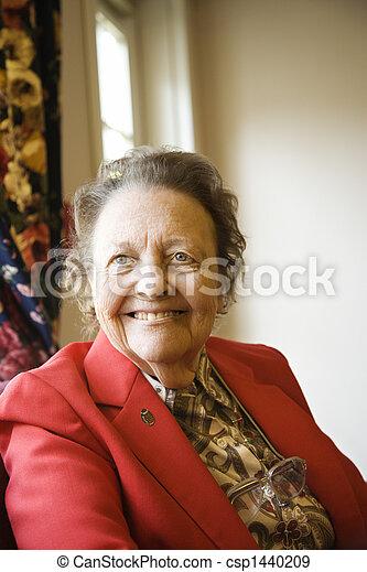 Elderly woman portrait. - csp1440209
