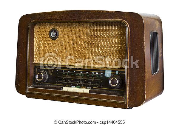 Vintage fashioned radio - csp14404555