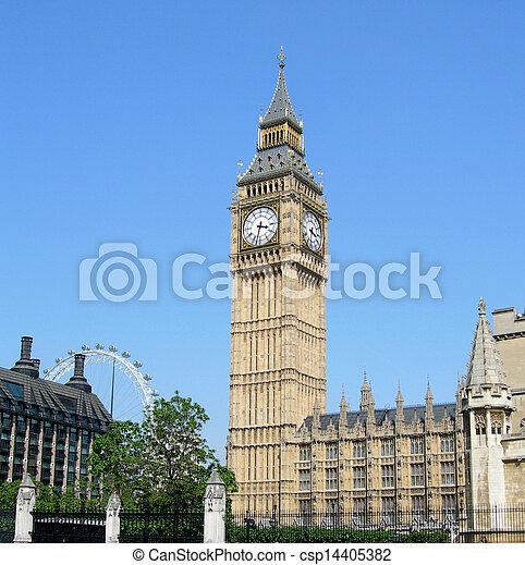 Big Ben and Parliament - csp14405382
