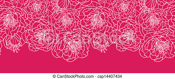 Lace Flowers Drawings Vibrant Red Lace Flowers
