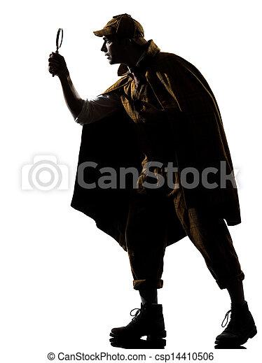 sherlock holmes silhouette - csp14410506