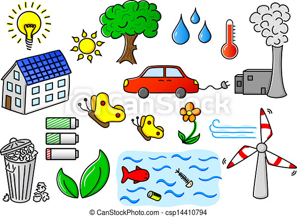 industrial pollution and environmental degradation clipart